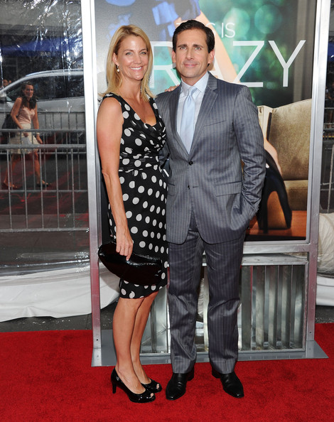 "Nancy Carell and actor Steve Carell attend the ""Crazy, Stupid, Love."" World Premiere at the Ziegfeld Theater on July 19, 2011 in New York City."