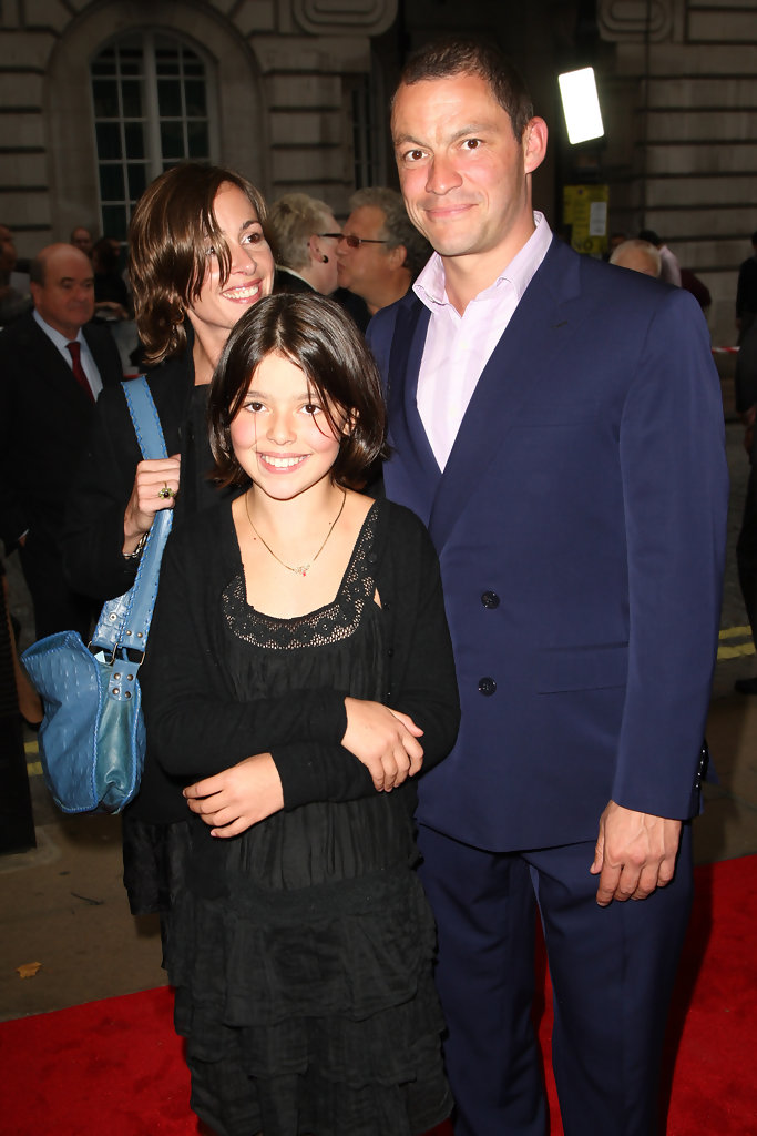 Dominic West with ex-girlfriend Polly Astor and daughter Martha