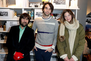 (L-R) Jason Schwarztman, Alex Ross Perry and Analeigh Tipton attend the Creators League Studio At 2017 Sundance Film Festival - Day 5 at PepsiCo's Creators League Studio at the 2017 Sundance Film Festival on January 23, 2017 in Park City, Utah.