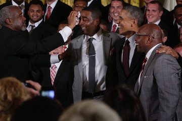 Cris Carter Obama Welcomes National Champion Ohio State University Buckeyes To White House