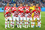 Croatia team lines up  prior to the 2018 FIFA World Cup Russia group D match between Croatia and Nigeria at Kaliningrad Stadium on June 16, 2018 in Kaliningrad, Russia.