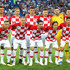 Dejan Lovren Ante Rebic Photos - Croatia team lines up  prior to the 2018 FIFA World Cup Russia group D match between Croatia and Nigeria at Kaliningrad Stadium on June 16, 2018 in Kaliningrad, Russia. - Croatia vs. Nigeria: Group D - 2018 FIFA World Cup Russia