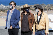 (L-R) Producer Stephen Deuters, director Julien Temple and actor Johnny Depp attend 'Crock of Gold: A Few Rounds With Shane Macgowan' photocall during the 68th San Sebastian International Film Festival at the Kursaal Palace on September 20, 2020 in San Sebastian, Spain.