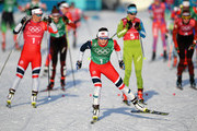 Maiken Caspersen Falla of Norway (1-2) competes during the Cross Country Ladies' Team Sprint Free semi final on day 12 of the PyeongChang 2018 Winter Olympic Games at Alpensia Cross-Country Centre on February 21, 2018 in Pyeongchang-gun, South Korea.