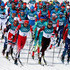 Dario Cologna Alex Harvey Photos - Alex Harvey of Canada, Dario Cologna of Switzerland and Jean Marc Gaillard of France lead the field during the Men's 50km Mass Start Classic on day 15 of the PyeongChang 2018 Winter Olympic Games at Alpensia Cross-Country Centre on February 24, 2018 in Pyeongchang-gun, South Korea. - Cross-Country Skiing - Winter Olympics Day 15