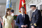 Prince Frederik of Denmark and Crown Princess Mary of Denmark visit at the War Memorial of Korea on May 10, 2012 in Seoul, South Korea. The Crown Prince and Crown Princess of Denmark are on a six-day visit to South Korea.