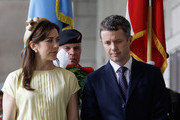 THR Prince Frederik of Denmark and Crown Princess Mary of Denmark visit at the War Memorial of Korea on May 10, 2012 in Seoul, South Korea. The Crown Prince and Crown Princess of Denmark are on a six-day visit to South Korea.