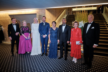 Crown Princess Arrivals At Nobel Peace Prize Banquet 2019