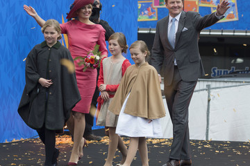 Crown Princess Catharina-Amalia Dutch Royal Family Attends King's Day