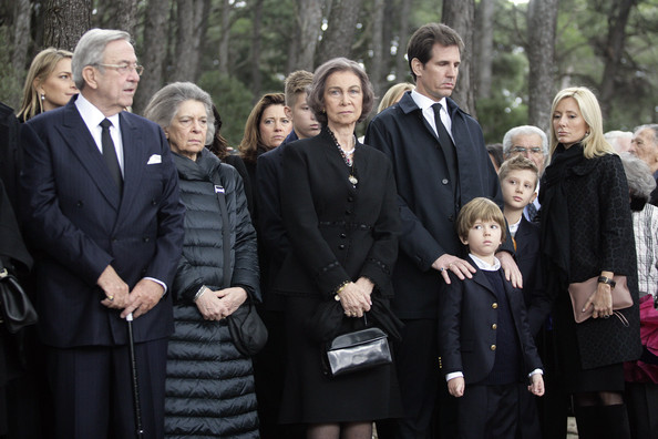 Commemorative Mass Held for King Paul I [paul i,sofia,royal families attend commemorative mass,constantine ii,marie-chantal claire,princess,crown prince,social group,event,family,family pictures,greece,spanish,l]