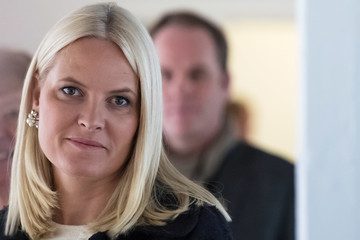 Crown Princess Mette-Marit of Norway Crown Princess Mette-Marit Visits Stella Red Cross Women's Centre
