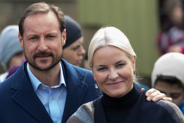 Crown Princess Mette-Marit of Norway Norwegian Royals Visit Bjerke District in Oslo
