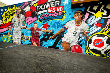 Crystal Dunn POWERADE Celebrates The US Women's National Team's World Cup Victory