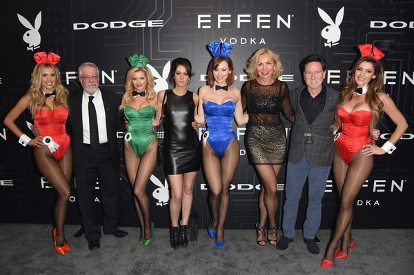 The Playboy Party During Super Bowl Weekend - Arrivals [event,fashion,competition,model,performance,dress,party,kimberly phillips,kayla rae reid,stephanie branton,president,l-r,playmate,svp content rights,playboy party,super bowl,arrivals]