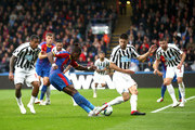 Wilfried Zaha of Crystal Palace shoots during the Premier League match between Crystal Palace and Newcastle United at Selhurst Park on September 22, 2018 in London, United Kingdom.