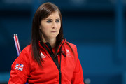 Eve Muirhead of Great Britain looks on during Women's Round Robin Session 9 on day 10 of the PyeongChang 2018 Winter Olympic Games at Gangneung Curling Centre on February 19, 2018 in Pyeongchang-gun, South Korea.