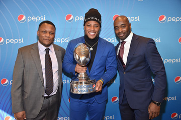 Curtis Martin Pepsi Rookie Brunch Celebrating Saquon Barkley As 2018 Pepsi NFL Rookie Of The Year