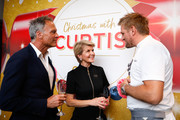 Julie Bishop, David Panton and Curtis Stone attend the Coles Christmas media event at Three Blue Ducks on October 15, 2019 in Sydney, Australia.