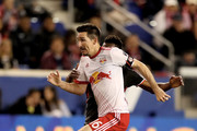 Sacha Kljestan #16 of New York Red Bulls takes the ball in the first half against the D.C. United at Red Bull Arena on April 15, 2017 in Harrison, New Jersey.