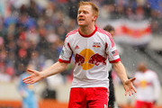 Dax McCarty #11 of New York Red Bulls reacts during the game against the D.C. United at Red Bull Arena on March 16, 2013 in Harrison, New Jersey.