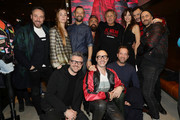 (L-R) Fabio Volo, Johanna Hauksdottir, Renzo Rosso, Francesca Cavallin, Fabio Novembre, Andrea Rosso, Saturnino,  attend DIESEL X A.C. MILAN SPECIAL COLLECTION on January 18, 2018 in Milan, Italy.