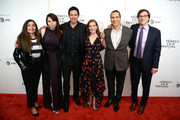 "Chaske Spencer, Erika Olde, Susanna White, Michael Greyeyes and Rulan Tangen attend the DIRECTTV Premiere Of ""Women Walks Ahead"" At 2018 Tribeca Film Festival on April 25, 2018 in New York City."
