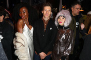 "(L-R) Nana Ghana, Daryl Wein, and Vivian Bang attend the ""White Rabbit"" cocktail at DIRECTV Lodge presented by AT&T during Sundance Film Festival 2018 on January 19, 2018 in Park City, Utah."