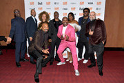 Wesley Snipes, Keegan-Michael Key, Ruth E. Carter, Eddie Murphy, Da'Vine Joy Randolph, Craig Robinson, Mike Epps, Tituss Burgess and Craig Brewer attend the world premiere of 'DOLEMITE IS MY NAME' at The Princess of Wales Theatre on September 07, 2019 in Toronto, Canada.