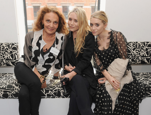 Designer Diane von Furstenberg, Mary Kate Olsen and Ashley Olsen  attend the CFDA Bi Annual membership meeting hosted by DVFat DVF Studio on May 17, 2011 in New York City.