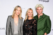 Cecilia Bonstrom, Kate Moss, and Jordan Barrett attend The Daily Front Row's 7th annual Fashion Media Awards on September 05, 2019 in New York City.