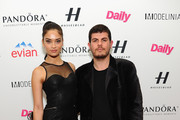 Shanina Shaik and Eli Mizrahi attend the Models Issue Party presented by The Daily Front Row And Modelinia at Harlow on February 7, 2014 in New York City.