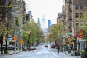 The streets of New York City is seen almost empty on April 24, 2020 in New York City. Streets continue to stay empty as the virus remains a threat.