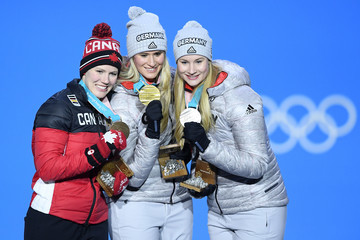 Dajana Eitberger Medal Ceremony - Winter Olympics Day 5