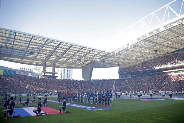 Portugal v Netherlands - UEFA Nations League Final [sport venue,stadium,crowd,arena,soccer-specific stadium,sky,fan,atmosphere,team sport,sports,dragao,portugal,the netherlands,porto,estadio,team,uefa nations league final]