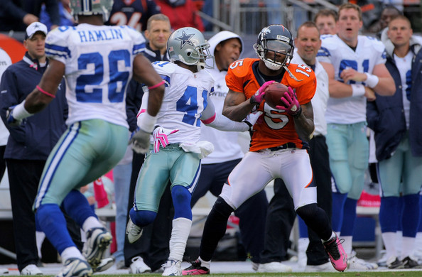 yard touchdown reception as Terence Newman #41 of the Dallas Cowboys