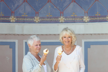 Dame Judi Dench The Duchess Of Cornwall Visits The Isle Of Wight