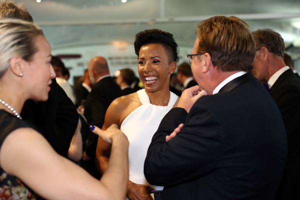 Sports Book Awards [kelly holmes,sports book awards,event,yellow,formal wear,arm,suit,dress,ceremony,hand,photography,flooring,lords cricket ground,london,england]