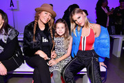 (L-R) Genevieve Gorder, Bebelle Harcott, and Joy Corrigan attend the Dan Liu fashion show during New York Fashion Week: The Shows at Gallery II at Spring Studios on February 10, 2018 in New York City.