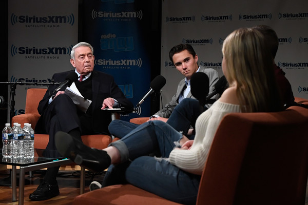 Dan Rather Hosts A SiriusXM Roundtable Special Event With Parkland, Florida, Marjory Stoneman Douglas High School Students And Activists Emma Gonzalez, David Hogg, Cameron Kasky, Alex Wind And Jaclyn Corin