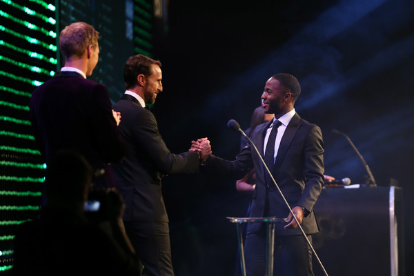 BT Sport Industry Awards 2019 [performance,entertainment,event,performing arts,music artist,orator,music,song,talent show,singer,gareth southgate,dan walker,raheem sterling,bt sport industry awards,the integrity and impact award,england,world,dow jones intelligence,showcase,event]