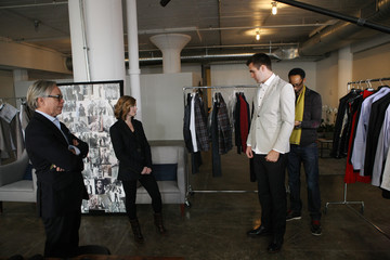 Dana Flacco Tommy Hilfiger And Baltimore Ravens Quarterback Joe Flacco Get Ready For Fashion Week