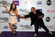 """Dancer Lacey Schwimmer (L) and actor Kyle Massey arrive at the after party for the grand opening of """"Dancing With the Stars: Live in Las Vegas"""" at the New Tropicana Las Vegas April 13, 2012 in Las Vegas, Nevada."""