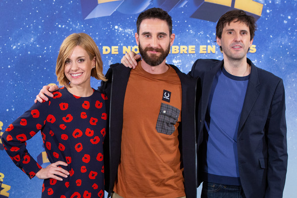 'Superlopez' Madrid Photocall [madrid photocall,youth,fun,event,outerwear,space,smile,world,fawn,superlopez,julian lopez,alexandra jimenez,dani rovira,l-r,madrid,spain,photocall]