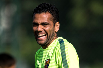 Daniel Alves Barcelona Training Session