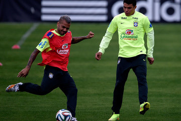Daniel Alves Brazil Training Session