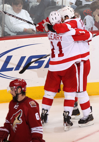 Daniel+Cleary+Todd+Bertuzzi+Detroit+Red+