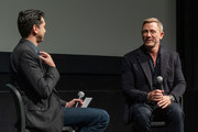 Rajendra Roy and Actor Daniel Craig attend The Museum of Modern Art's Screening of Casino Royale at MOMA on March 03, 2020 in New York City.