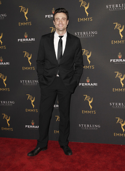 Television Academy's Daytime Programming Peer Group Reception - Arrivals [suit,formal wear,tuxedo,carpet,red carpet,pantsuit,premiere,tie,arrivals,daniel goddard,north hollywood,california,saban media center,television academy,daytime programming peer group reception]