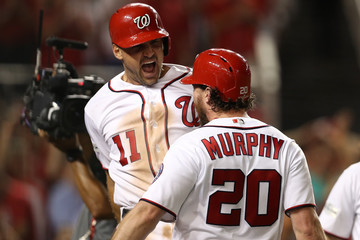 Daniel Murphy Divisional Round - Chicago Cubs v Washington Nationals - Game Two