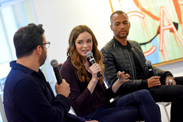 Danielle Panabaker Kendrick Sampson SCAD aTVfest 2018 Screenings and Panels - Day 3